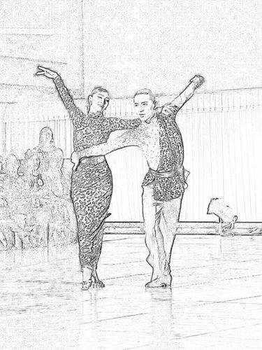 ダンス塗り絵。。。