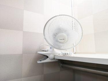 更衣室に扇風機。。。